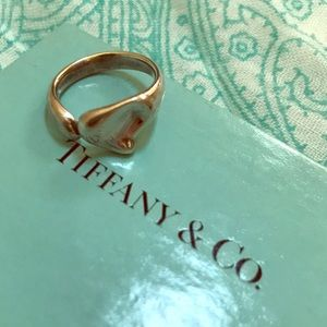 Tiffany & Co Cabochon Full Heart Ring 925 Silver